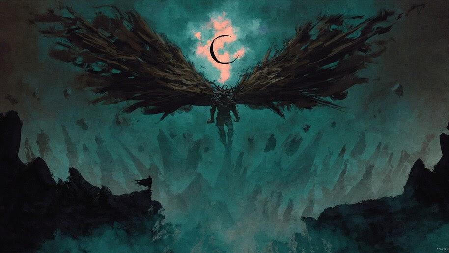 Dark Warrior, Fantasy, Art, 4K, #4.1007