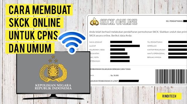 Cara Membuat SKCK Online untuk CPNS dan Umum
