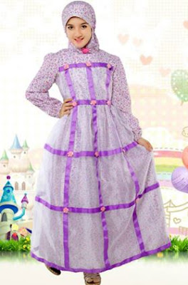 contoh baju muslim model terbaru untuk anak