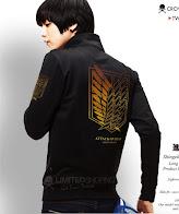 limited shoping jaket anime shingeki no kyojin long sleeve jacket snk56