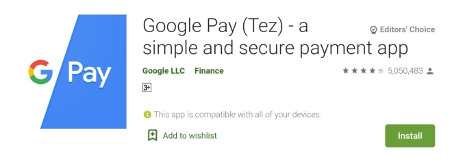 Google Pay (Tez) - a simple and secure payment app