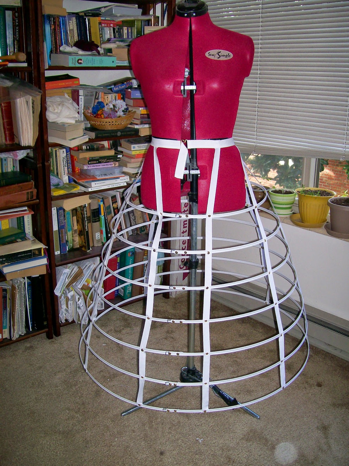 "108"" Cage crinoline made from the Originals by Kay kit."