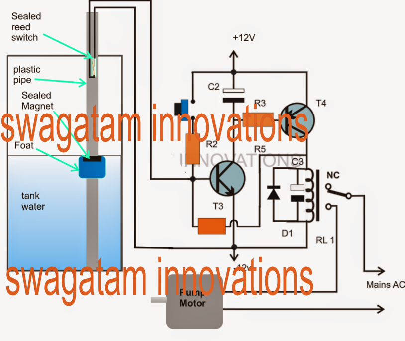 Float Switch Water Level Controller Circuit | Circuit ...