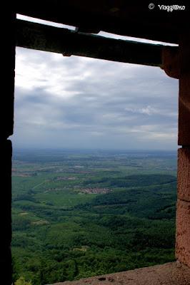 Panorama dal Bastione del castello di Haut Koenigsbourg