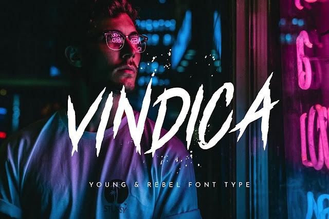 تحميل خط Vindica Rebel Typeface مجاني