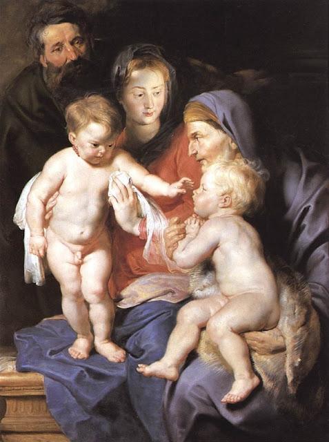 Pieter Paul Rubens Святое Семейство со святой Елизаветой и Иоанном Крестителем
