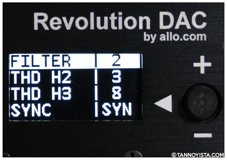 Image showing the display of the ALLO Revolution DAC