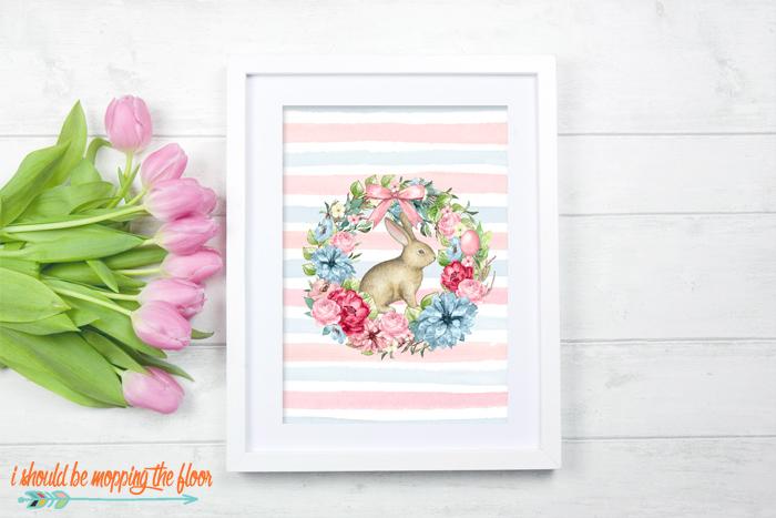 Free Botanical Bunny Printables