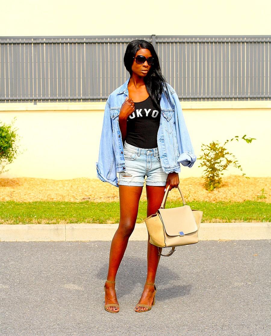 veste-jeans-vintage-sac-celine-trapeze-body-tokyo-short-taille-haute-blog-mode