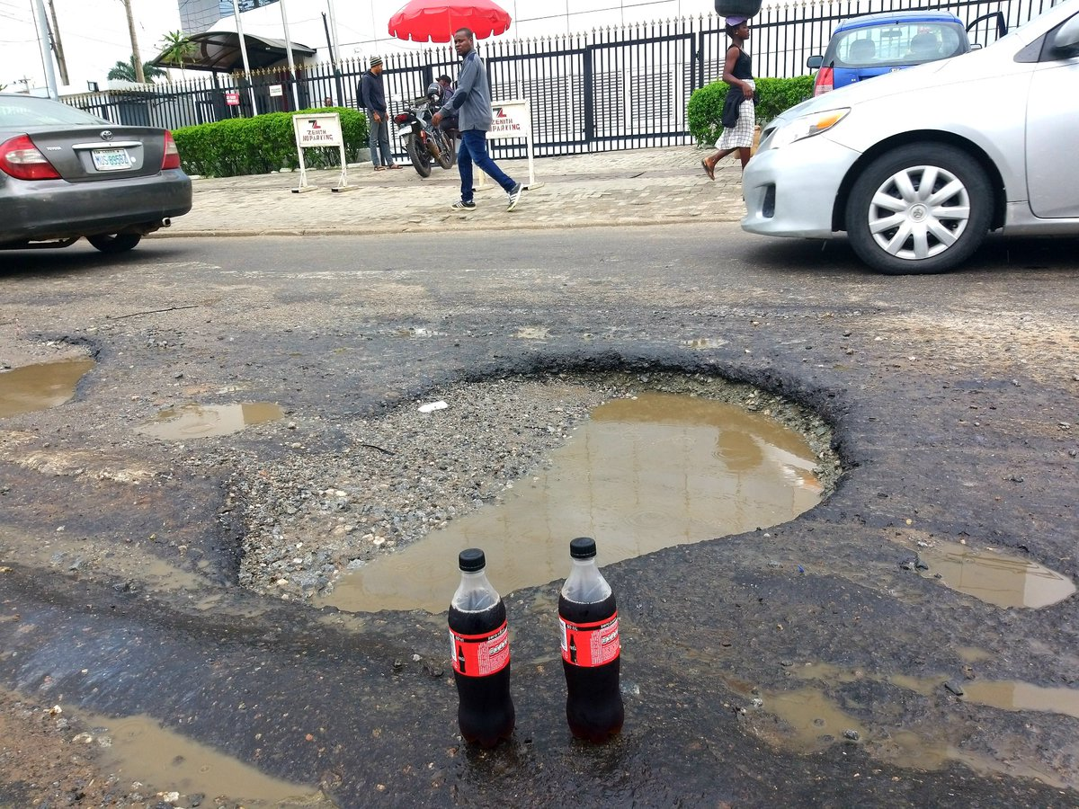 Nigerian Lawyer 'Threw' A Party For Potholes That Keep Expanding