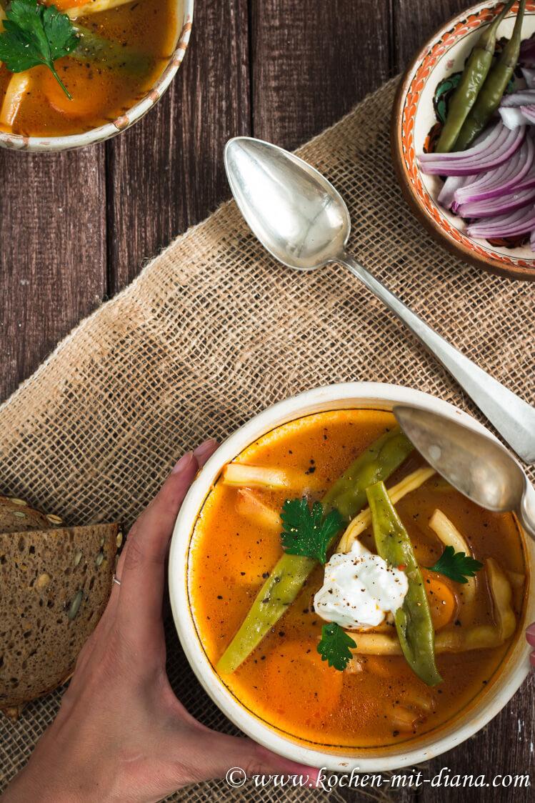 Siebenbürgische Fisolen Suppe