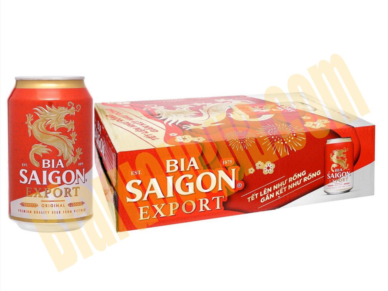 Thùng bia lon Sài Gòn Export