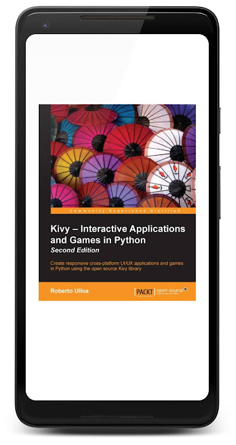 Cover of Kivy - Interactive Applications and Games in Python in Google Play Books on a Pixel 2 XL