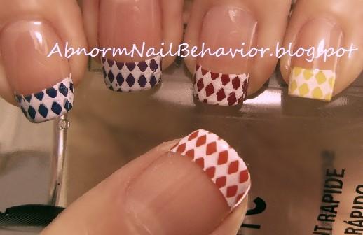 Abnorm Nail Behavior Nail Art Rainbow Checker French Tips