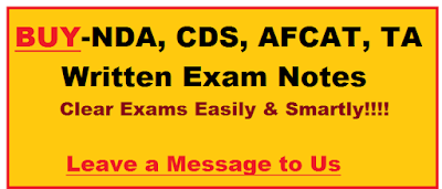 BUY -  CDS, AFCAT, NDA, TA Written Exams Notes