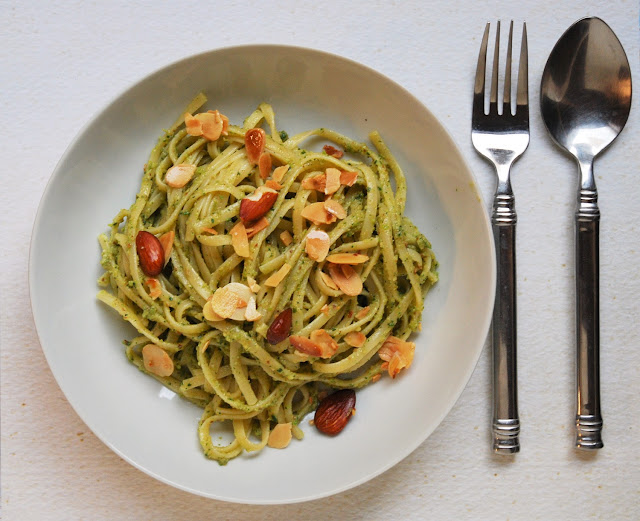 Pesto courgettes amandes