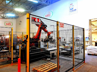 25 kg KAYA TUZU TORBA – ÇUVAL TUZ PAKETLEME PALETLEME MAKİNASI ROBOTU – TARA ROBOTİK OTOMASYON