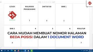 Cara membuat nomor halaman berbeda posisi di Microsoft Word
