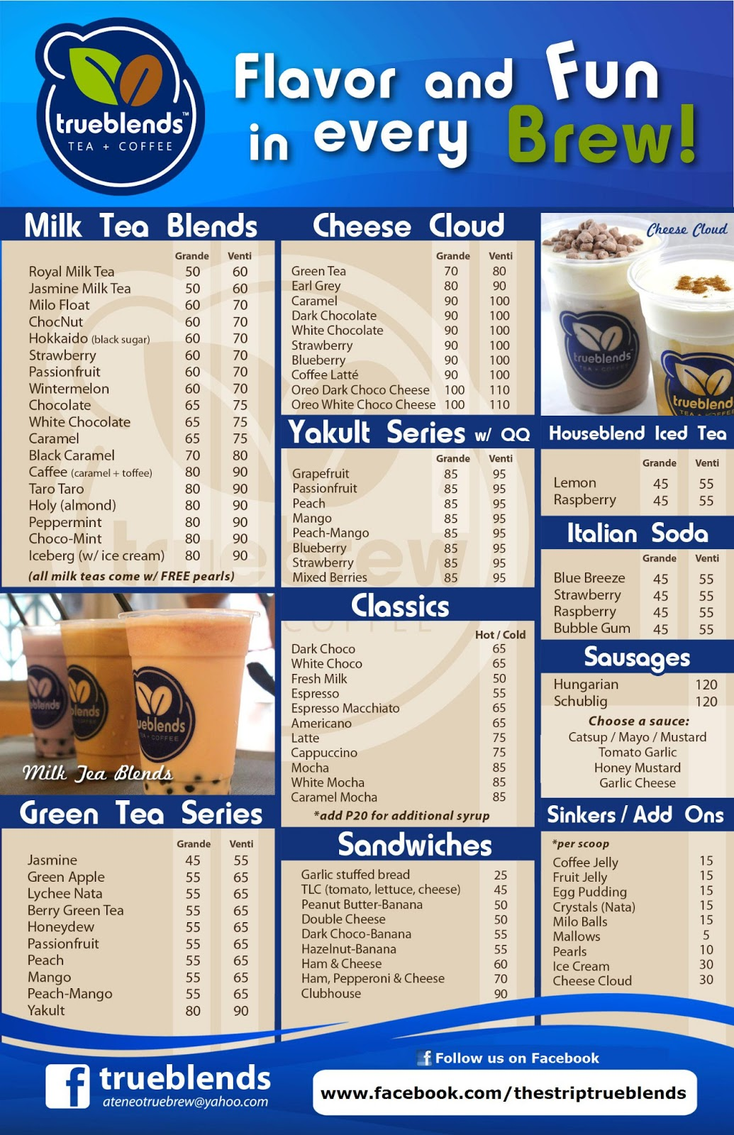 true blends the strip menu