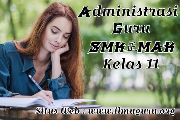 Administrasi Guru SMK Mapel PKN Kelas 11