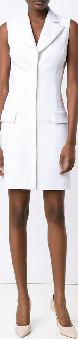 CUSHNIE ET OCHS Open Back Fitted Dress