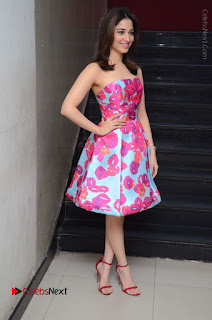 Actress Tamanna Latest Images in Floral Short Dress at Okkadochadu Movie Promotions  0187.JPG