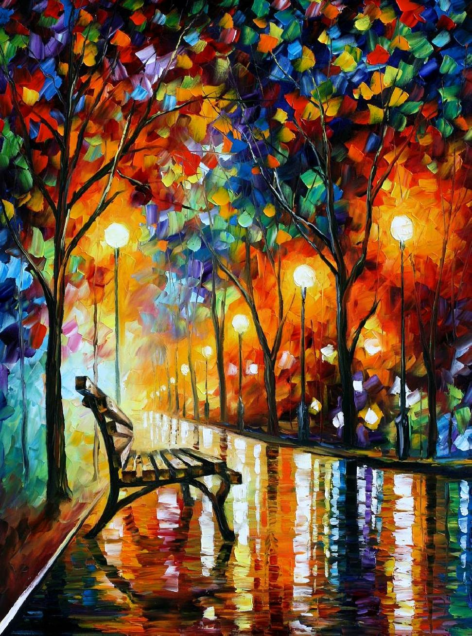 inside the sketchbook leonid afremov. Black Bedroom Furniture Sets. Home Design Ideas