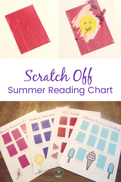 Set summer reading goals with a scratch-off reading chart.