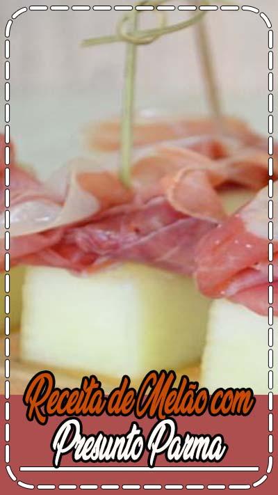 Receita de Melão com presunto Parma passo-a-passo. Acesse e confira todos os ingredientes e como preparar essa deliciosa receita!