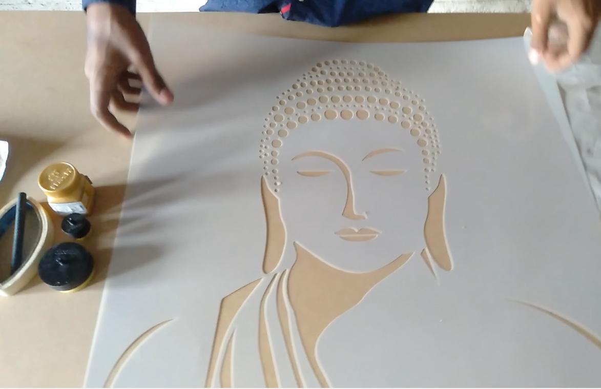 Stencil For Wall Buddha Wall Painting Buddha Wall Stencil Buddha Painting Ideas Bud