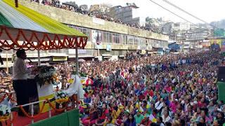 GJMM jansabha in Darjeeling for Bidhan Sabha