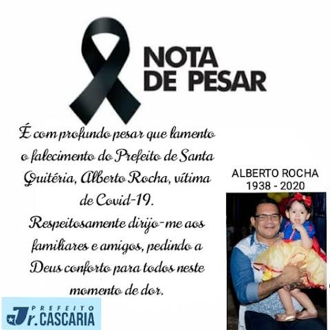 Prefeito Júnior Cascaria emite nota de pesar pelo fortalecimento do prefeito Alberto Rocha, de Santa Quitéria.