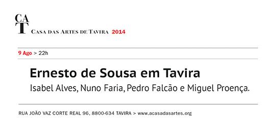Casa das Artes de Tavira - Ernesto de Sousa, convite