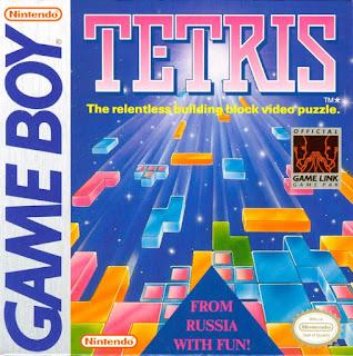 Portada del cartucho de Tetris para Game Boy, 1989