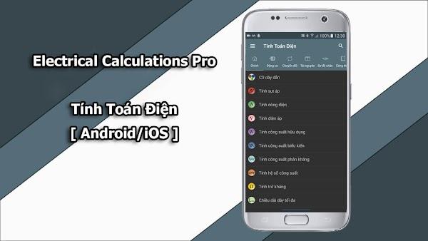 Electrical Calculations Pro - Ứng dụng Tính Toán Điện [Android/iOS]