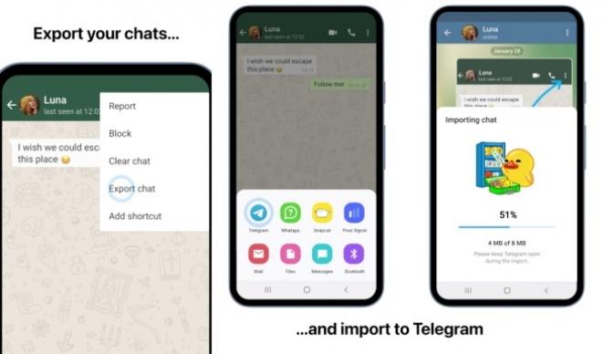 Telegram Import Export