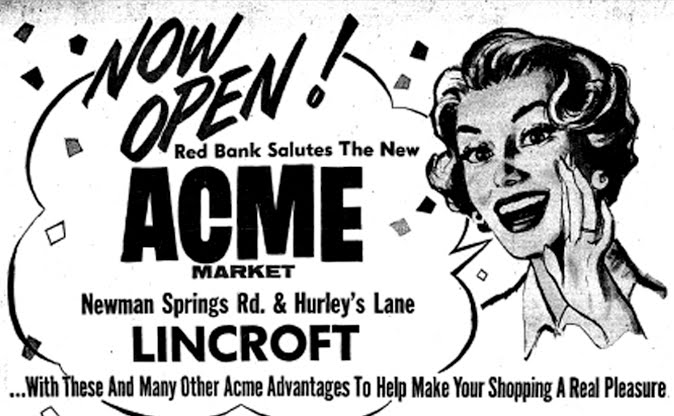 Acme Style: Lincroft's Grand Opening! September 21, 1960