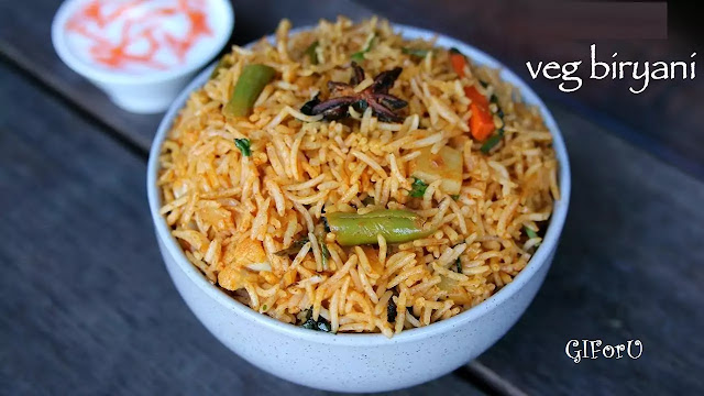 Vegetable Biryani recipe-How to make Vegetable Biryani recipe at GIforU