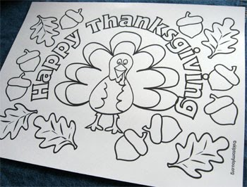 printable thanksgiving crafts coloring pages - photo#10