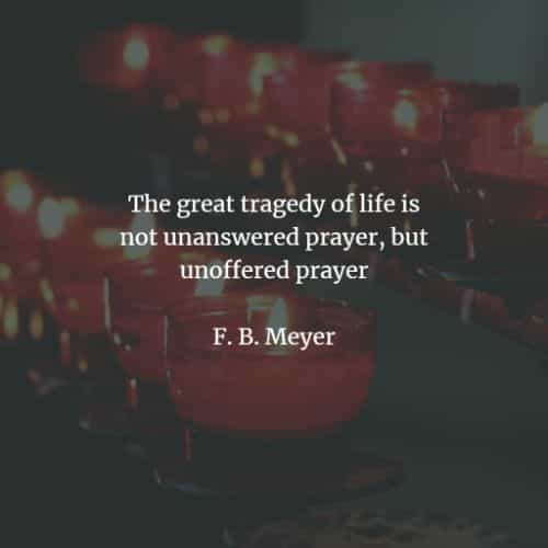 Prayer quotes and sayings that demonstrate its power
