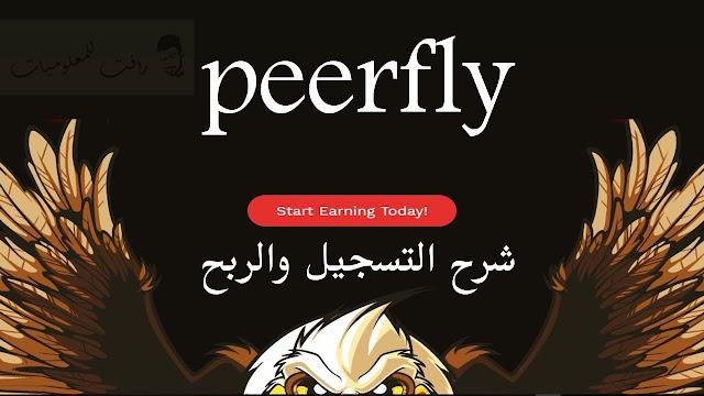 شرح التسجيل والربع من شركة PeerFly
