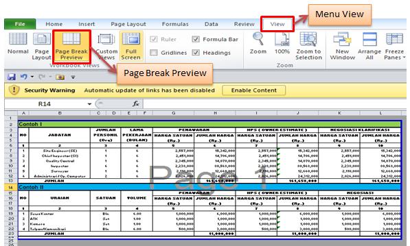 Cara Print Di Microsoft Excel 2010 (2)