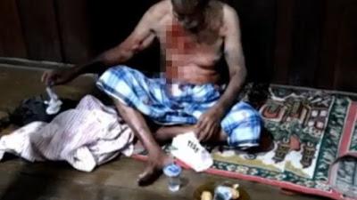 Kakek di Bone Diparangi Preman Karena Tak Mau Menyerahkan Uang