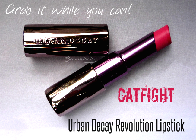 Urban Decay Catfight Revolution Lipstick review, photos, swatches