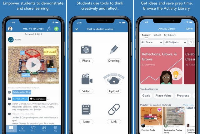 Seesaw-Class - تطبيقات التعليم عن بعد