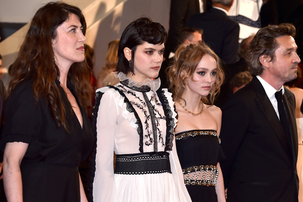 Stephanie Di Giusto, Soko and Lily-rose Depp on the red carpet in Cannes