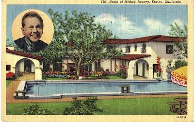 Celebrity Homes Postcards San Fernando Valley Blog