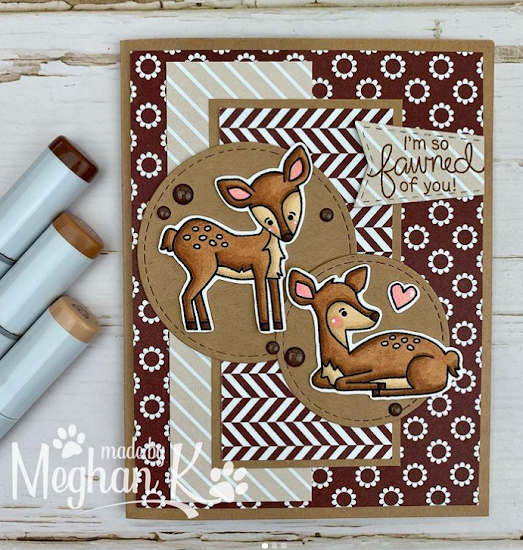 I'm so fawned of you by Meghan K. features Deer Friend by Newton's Nook Designs; #inkypaws, #newtonsnook, #cardmaking