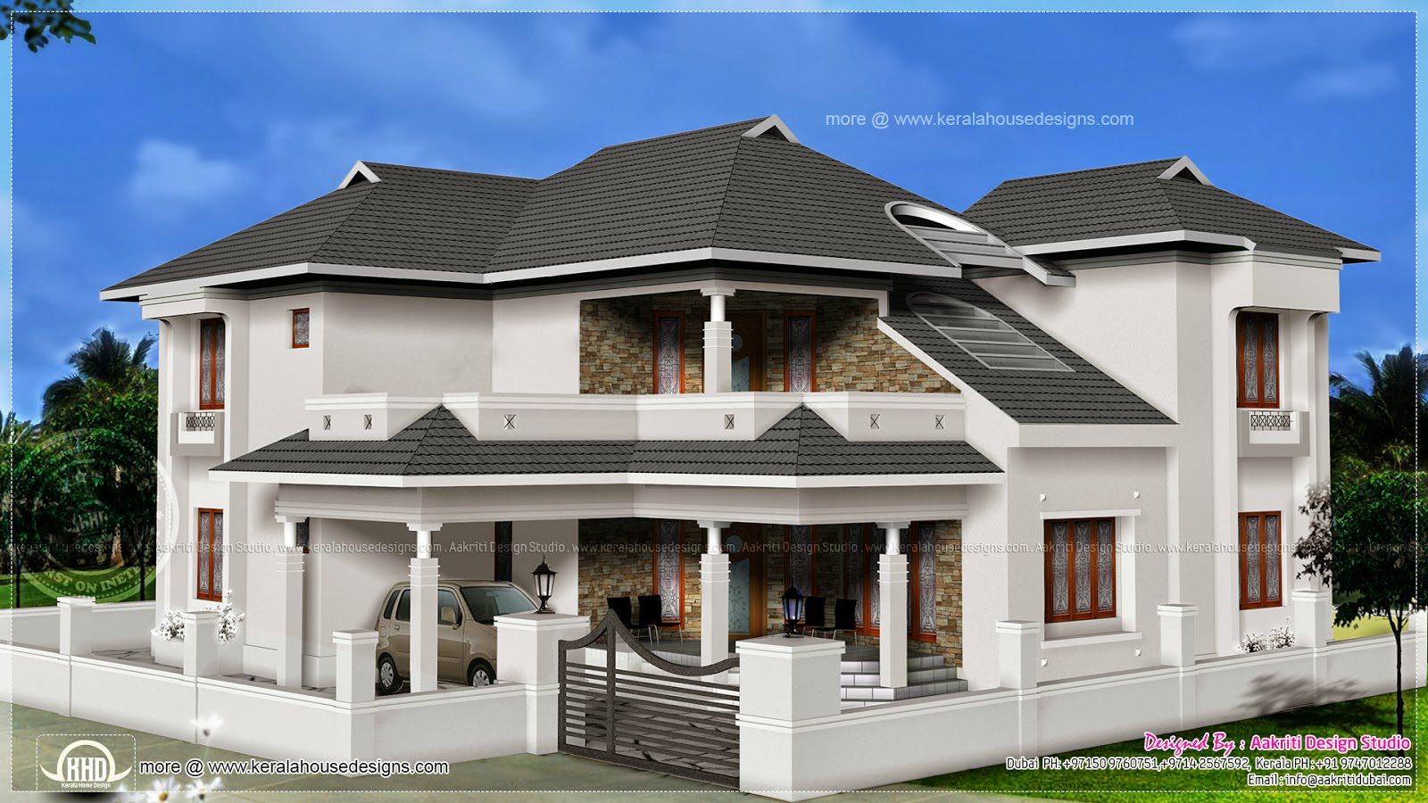 Modern villa in 2670 square feet home kerala plans for 1000 sq ft house design for middle class