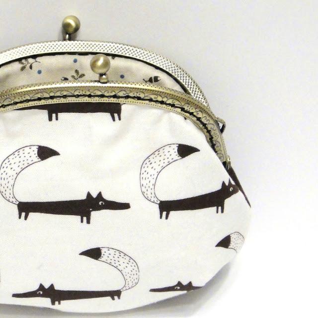 Лиса Сумка кошелек из ткани. Единственный экземпляр. Ручная работа - новогодний подарок девушке или девочке.